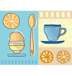 Coffee and breakfast vector