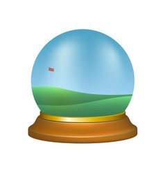 Paper weight with golf scenery vector