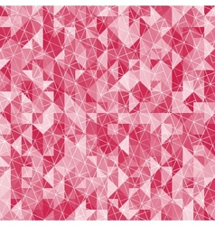Abstract crystal red triangle background vector