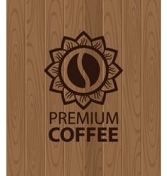 premium coffee vector image