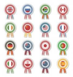 flag rosettes vector image
