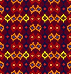 Tribal seamless pattern of rhombuses vector image