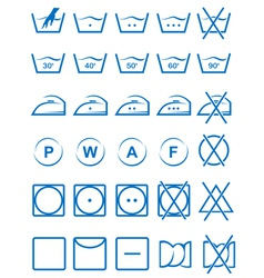Laundry icons vector