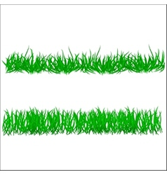 Flower and grass borders set vector