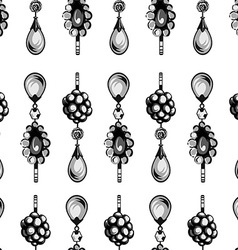 seamless pattern of jewels vector image