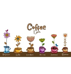 Coffee theme Background vector image