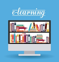 E-learning design vector