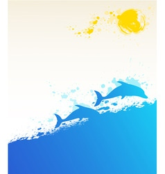 summer marine vector image