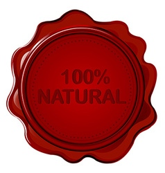 100 natural wax seal vector