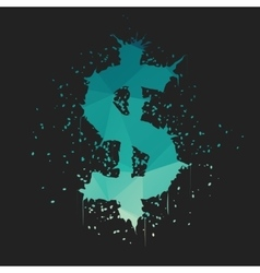 Grunge dollar sign vector