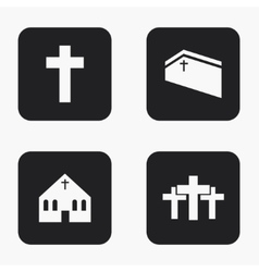 Modern religion icons set vector