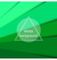 Abstract background with green paper sheets vector