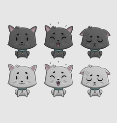 Cat Expressions Set vector image
