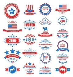 Objects and symbols for vote of usa vector