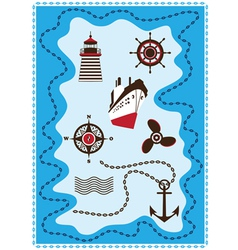 Marine sailing and sea icons icon set vector