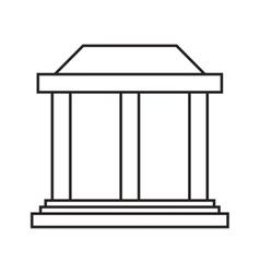 ancient greek building icon vector image vector image