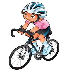 Baby cyclist vector