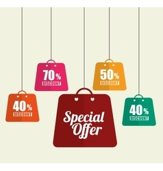 Big sale discounts and offers shopping vector image vector image