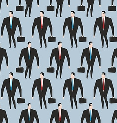 Businessman seamless pattern Manager in suit and vector image vector image