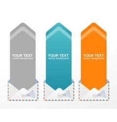 colorful text box arrow vector image