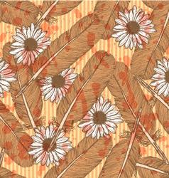 Feather daisy vector