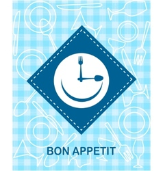 happy smiley clock vector image