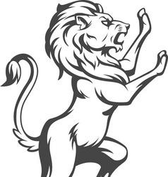 Heraldic lion standing vector