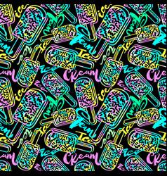 ice cream geometrical seamless pattern vector image