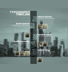 Infographic typography timeline report template vector