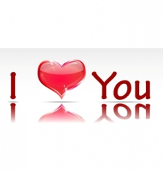inscription i love you vector image vector image