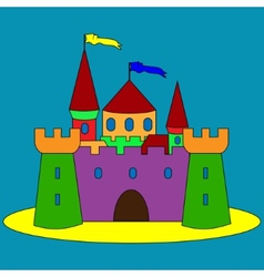 isolated cartoon castle vector image