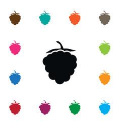 isolated raspberry icon razz element can vector image vector image