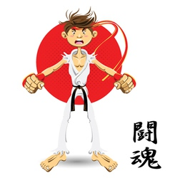 martial art black belt vector image