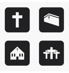 Modern religion icons set vector