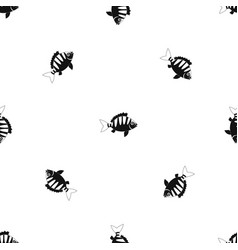 Perch pattern seamless black vector