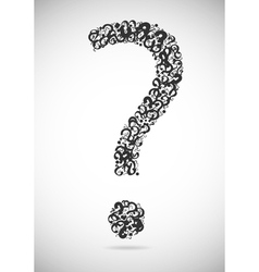 Question mark consisting of question marks vector image vector image
