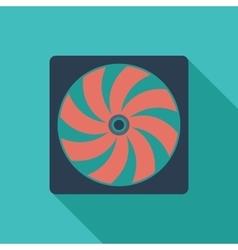 Radiator fan flat icon vector image vector image