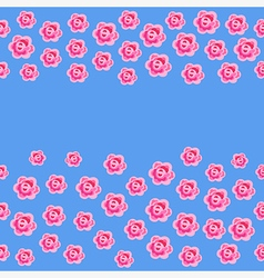 Seamless roses isolated on blue background vector