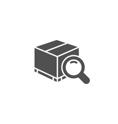 Search package simple icon delivery box sign vector