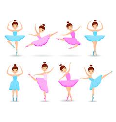 set of girls ballet dancer vector image