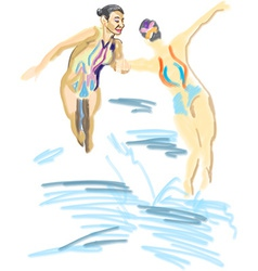 Synchronized swimming vector