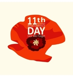 The poppy flower remembrance day11th november vector