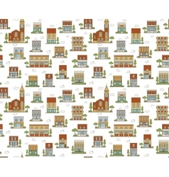 Urban seamless pattern vector