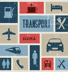 Vintage transport traffic poster vector