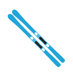 winter sports equipment on white background vector image vector image