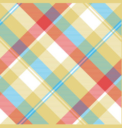 yellow plaid tartan seamless pattern vector image vector image