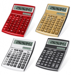calculators vector image