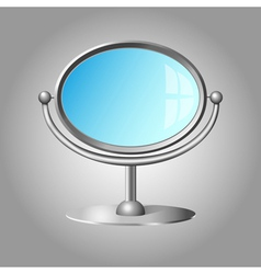 Modern cosmetic mirror vector