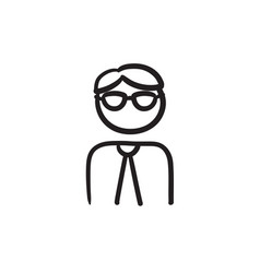 Businessman sketch icon vector