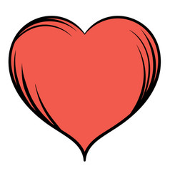 red heart icon cartoon vector image